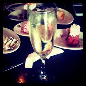 Champagne at the Cupcakery