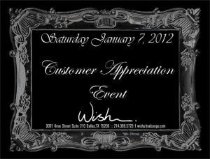 Customer Appreciation at WIsh