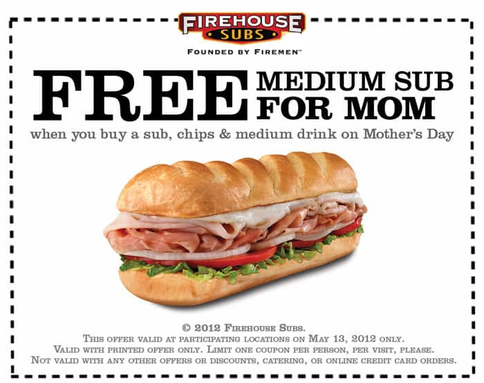 Firehouse subs coupon december 2018
