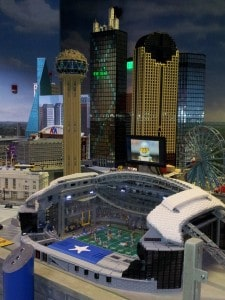 Cowboys Stadium and Downtown Dallas made out of Legos!