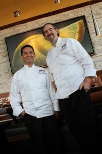 Chef Carlos Arevalo (Flaco) and Chef Bob Stephenson (Gordo)