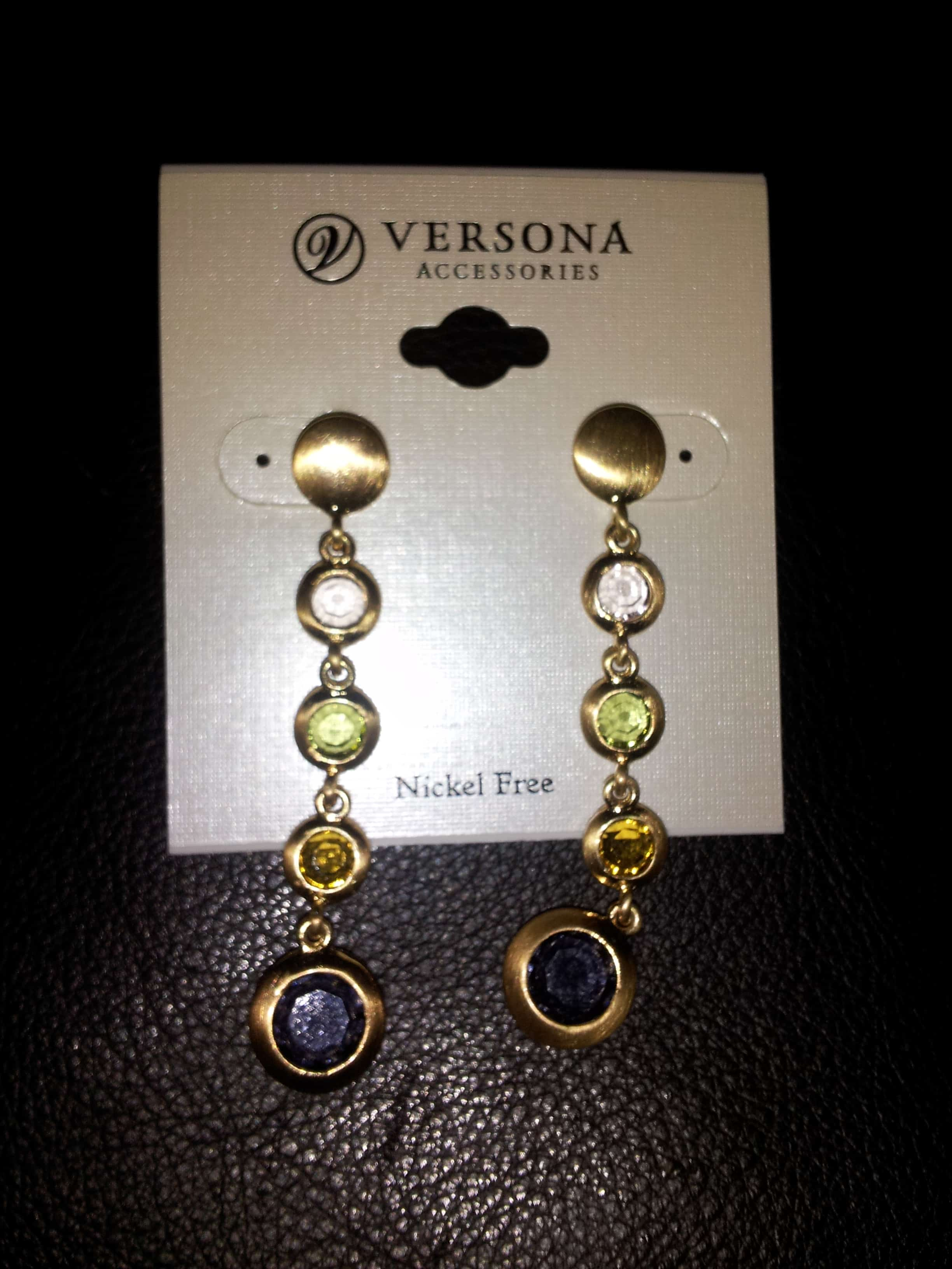 giveaway matching earrings and bracelet from versona