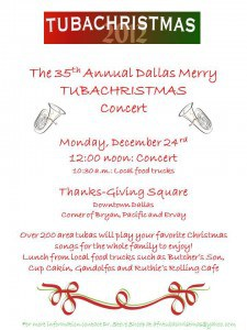 tuba christmas, thanksgiving square, dallas