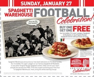 Spaghetti Warehouse coupon