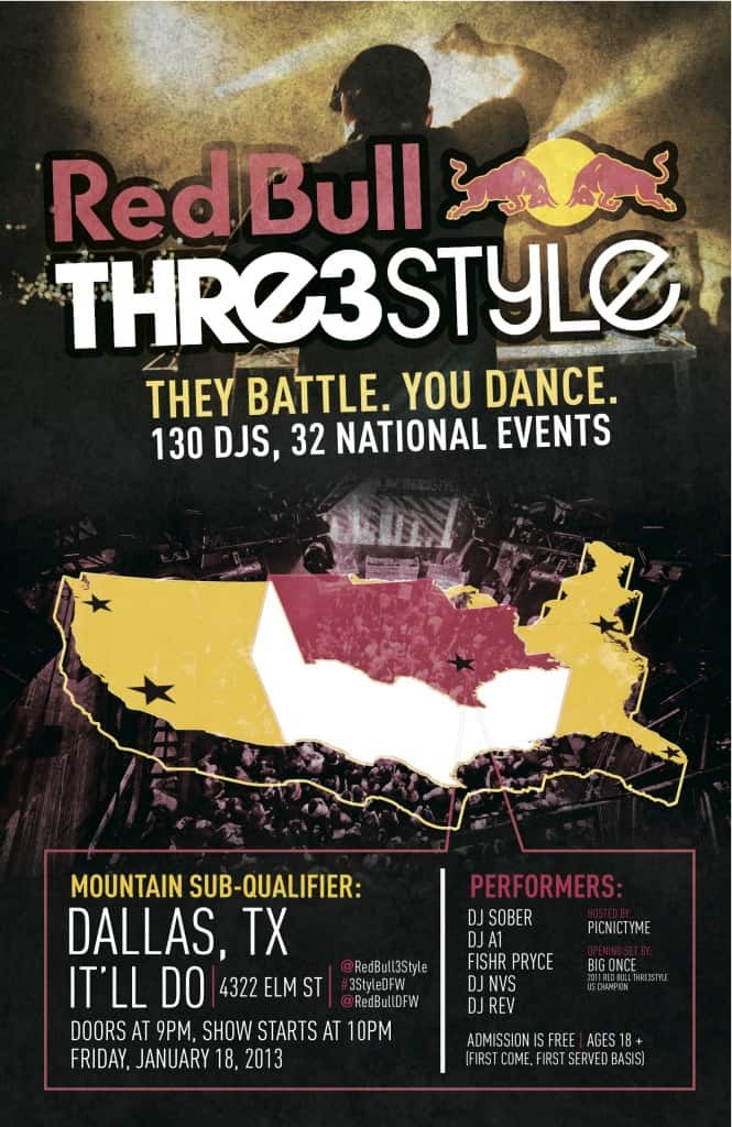 Red Bull Thre3Style Qualifier in Dallas
