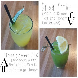 Refreshers from True Food Kitchen - Green Arnie and Hangover RX