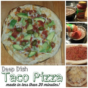 Deep Dish Taco Pizza made in less than 20 minutes!