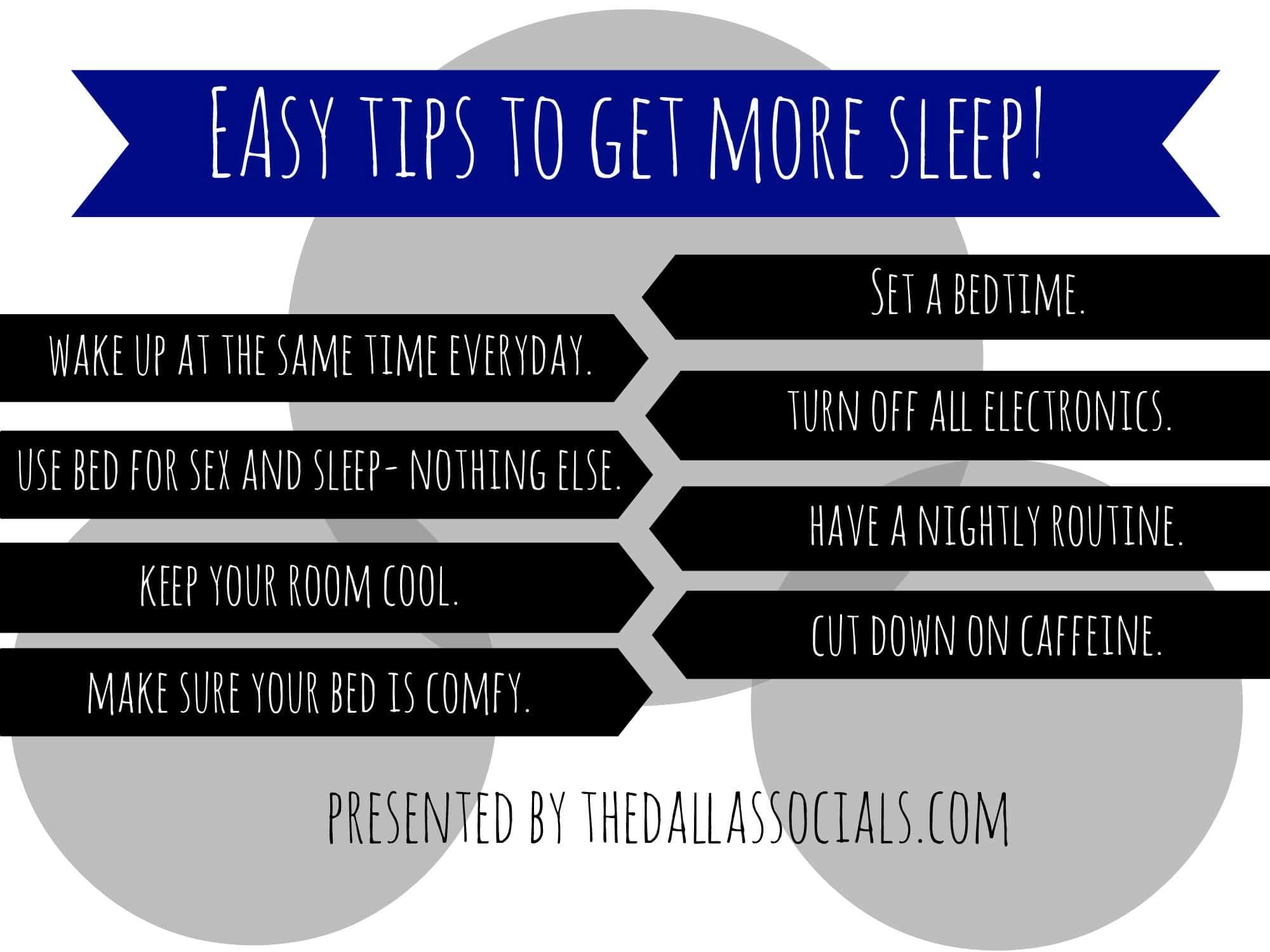 Easy Tips To Get More Sleep Dallas Socials