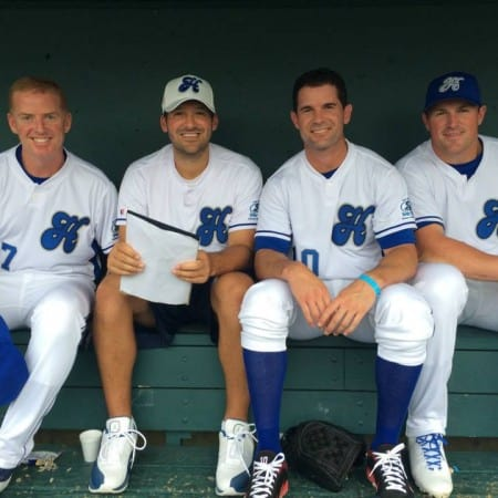 Dallas Cowboys at Heroes Foundation Celebrity Baseball Game 2014