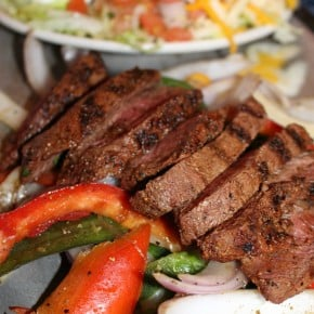 filet mignon fajitas and uncle julios