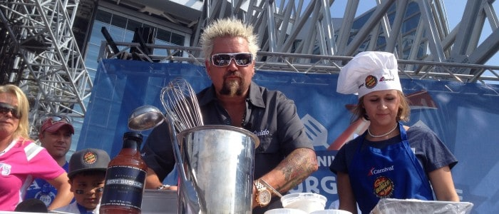 Carnival's Gameday Burger Battle with Guy Fieri
