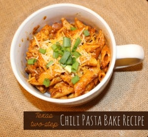 Two Step Chili Pasta Bake Recipe #BoldWolfChili #ad