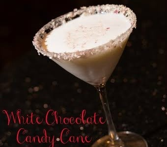 White Chocolate Candy Cane Martini Recipe from Del Frisco's