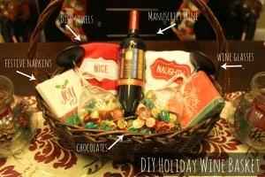 diy wine basket