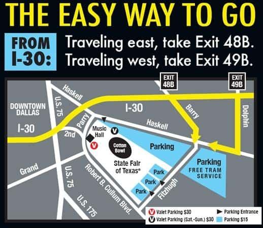 State Fair of Texas: Parking and DART information