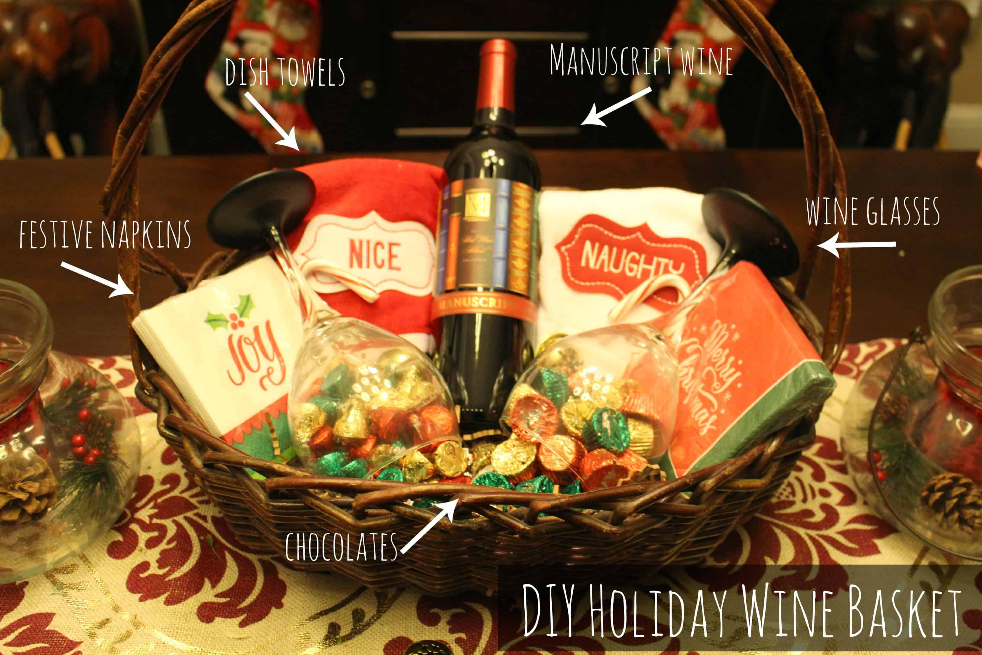 The Perfect Gift Diy Holiday Wine Basket Dallas Socials